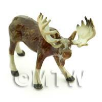 Dolls House Miniature Ceramic Moose Style 2