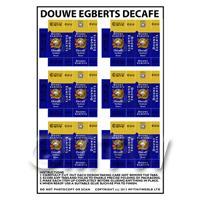 Dolls House Miniature Packaging Sheet of 6 Douwe Egberts Decafe
