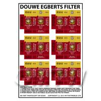 Dolls House Miniature Packaging Sheet of 6 Douwe Egberts Filter Blend
