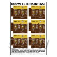 Dolls House Miniature Packaging Sheet of 6 Douwe Egberts Dark Roast