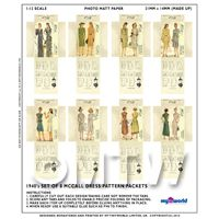 free dolls house miniature dress pattern set
