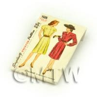 1/12th scale - Dolls House Miniature Simplicity Dress Pattern Packet (DPP001)