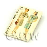 Dolls House Miniature Simplicity Dress Pattern Packet (DPP002)