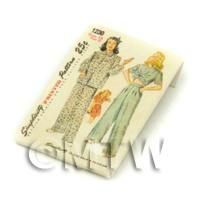Dolls House Miniature Simplicity Dress Pattern Packet (DPP003)