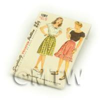 Dolls House Miniature Simplicity Dress Pattern Packet (DPP004)