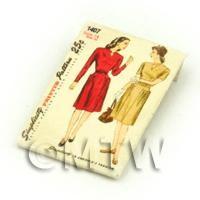 Dolls House Miniature Simplicity Dress Pattern Packet (DPP006)