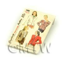 Dolls House Miniature Simplicity Dress Pattern Packet (DPP007)