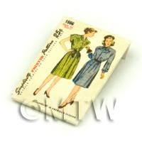 Dolls House Miniature Simplicity Dress Pattern Packet (DPP008)