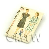 Dolls House Miniature Simplicity Dress Pattern Packet (DPP010)