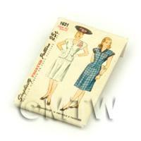 Dolls House Miniature Simplicity Dress Pattern Packet (DPP011)