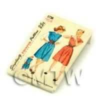 Dolls House Miniature Simplicity Dress Pattern Packet (DPP013)