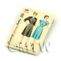 Dolls House Miniature Simplicity Dress Pattern Packet (DPP015)
