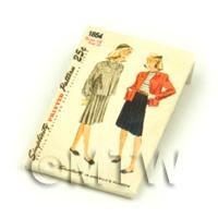 Dolls House Miniature Simplicity Dress Pattern Packet (DPP016)