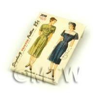 Dolls House Miniature Simplicity Dress Pattern Packet (DPP019)
