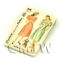 Dolls House Miniature Simplicity Dress Pattern Packet (DPP020)
