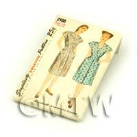 Dolls House Miniature Simplicity Dress Pattern Packet (DPP021)