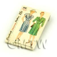 Dolls House Miniature Simplicity Dress Pattern Packet (DPP022)