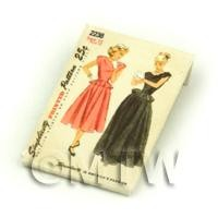 Dolls House Miniature Simplicity Dress Pattern Packet (DPP024)
