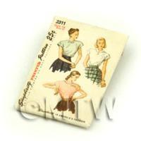 Dolls House Miniature Simplicity Dress Pattern Packet (DPP026)