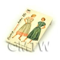 Dolls House Miniature Simplicity Dress Pattern Packet (DPP028)