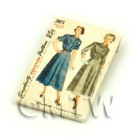 Dolls House Miniature Simplicity Dress Pattern Packet (DPP030)