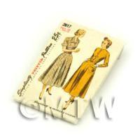 Dolls House Miniature Simplicity Dress Pattern Packet (DPP031)