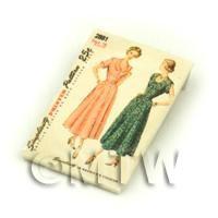 Dolls House Miniature Simplicity Dress Pattern Packet (DPP032)