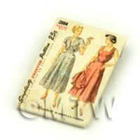 Dolls House Miniature Simplicity Dress Pattern Packet (DPP033)