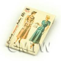 Dolls House Miniature Simplicity Dress Pattern Packet (DPP034)