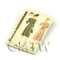 Dolls House Miniature Simplicity Dress Pattern Packet (DPP035)