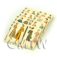 8 Dolls House Miniature Simplicity Dress Pattern Packets (DPPS04)