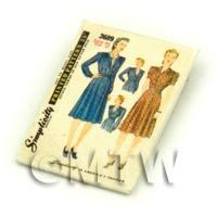 Dolls House Miniature Simplicity Dress Pattern Packet (DPP037)