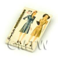 Dolls House Miniature Simplicity Dress Pattern Packet (DPP038)