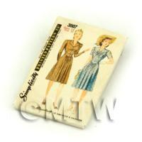 Dolls House Miniature Simplicity Dress Pattern Packet (DPP039)