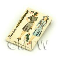 Dolls House Miniature Simplicity Dress Pattern Packet (DPP042)
