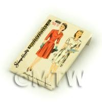 Dolls House Miniature Simplicity Dress Pattern Packet (DPP043)