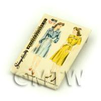 Dolls House Miniature Simplicity Dress Pattern Packet (DPP044)