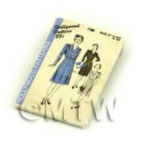 Dolls House Miniature Hollywood Dress Pattern Packet (DPP046)