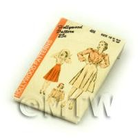 Dolls House Miniature Hollywood Dress Pattern Packet (DPP047)