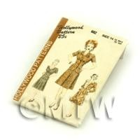 Dolls House Miniature Hollywood Dress Pattern Packet (DPP048)