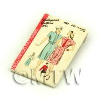 Dolls House Miniature Hollywood Dress Pattern Packet (DPP049)