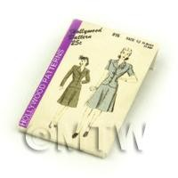 Dolls House Miniature Hollywood Dress Pattern Packet (DPP050)