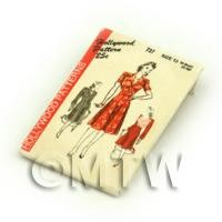 Dolls House Miniature Hollywood Dress Pattern Packet (DPP051)