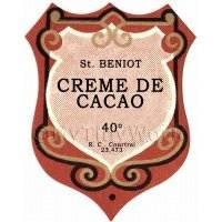 Benoit Creme De Cacao Miniature Dolls House Liqueur Label
