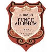 Benoit Punch Au Rhum Miniature Dolls House Liqueur Label