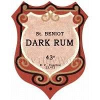 Benoit Dark Rum Miniature Dolls House Liqueur Label