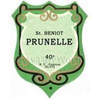 Benoit Prunelle Miniature Dolls House Liqueur Label