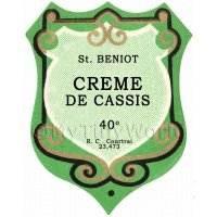 Benoit Creme De Cassis Miniature Dolls House Liqueur Label