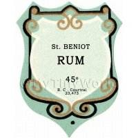 Benoit Rum Miniature Dolls House Liqueur Label