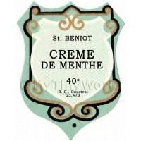Benoit Creme De Menthe Miniature Dolls House Liqueur Label